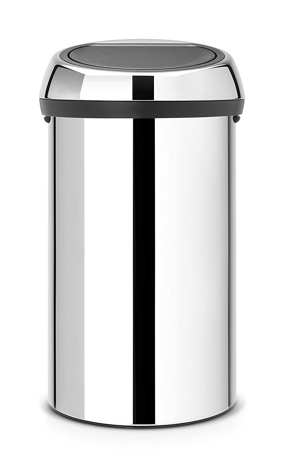 Brabantia 402609 Touch Trash Can, 16 gallon/60 L, Brilliant Steel