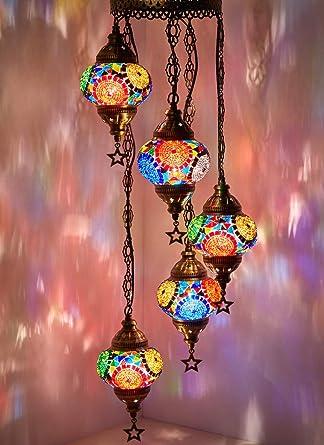 Mosaic Chandelier Mosaic Lamp Turkish Lamp Moroccan Lantern
