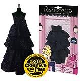 "Fashionette - Designer Collection - LOOK N°27 - ""Stella"" - Party dress for 11.5 inch mannequin dolls (28-30cm) : Barbie, Sindy, Disney Princesses, etc..."