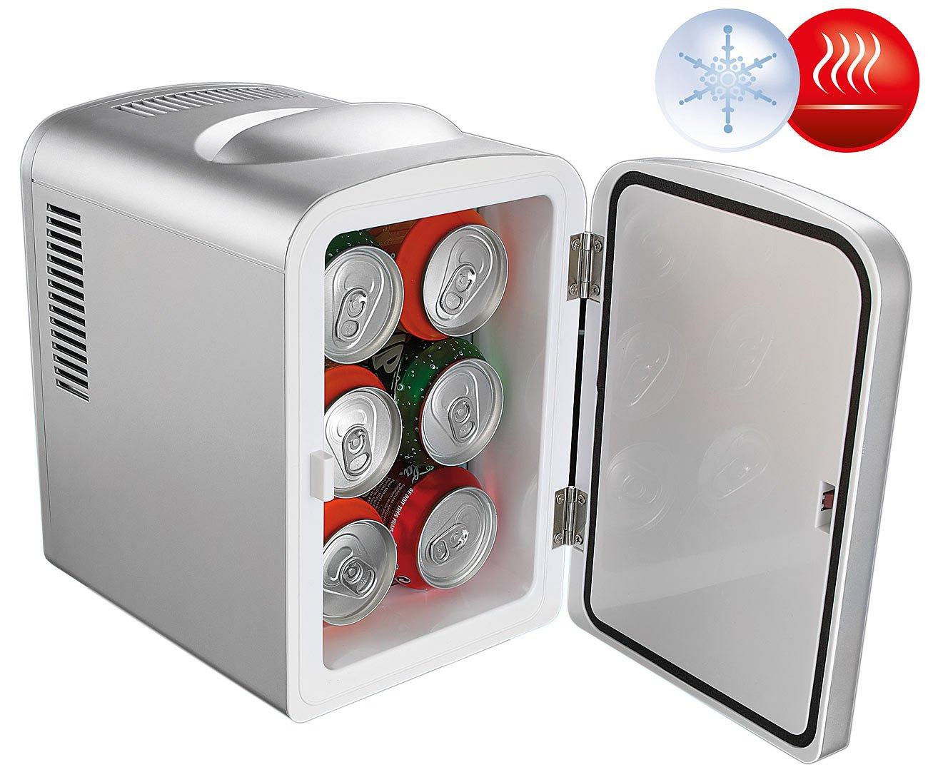 Mini réfrigérateur 2 en 1 avec prise 12 / 230 V - Gris Rosenstein & Söhne NC-3401