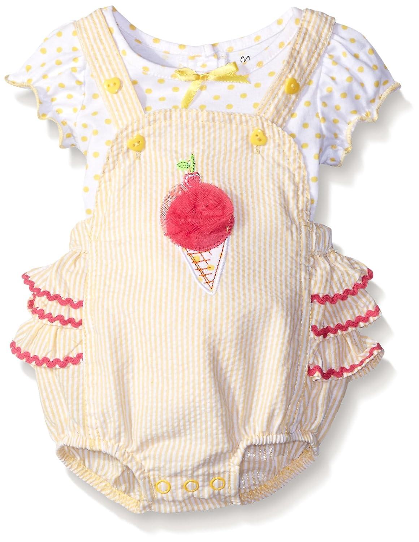 Nannette SHORTS ベビーガールズ 6 - 9 Months イエロー B019ZGW6R4