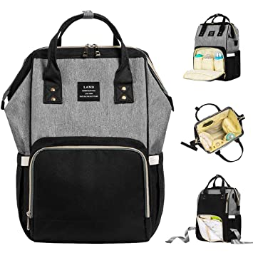 e1fe657f8 Land Baby Diaper Bag Backpack - Multi-Function Waterproof Maternity Travel  Nappy Bags for Baby
