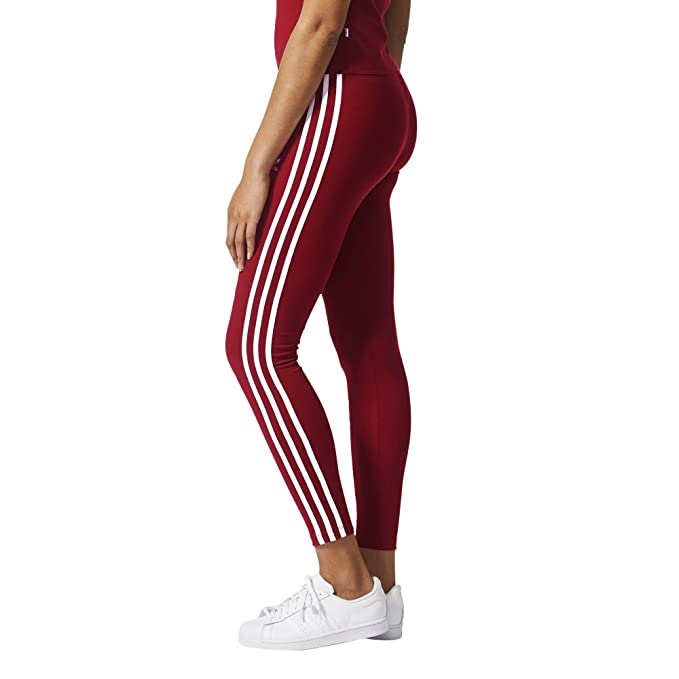 huge discount f27a6 deae4 Adidas Women s 3 Stripes Leggings, Collegiate Burgundy, XS  Amazon.in   Clothing   Accessories