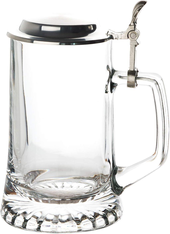 Bierseidel Sternboden 0,5L Stern Bierkrug Krug mit Deckel Bierglas