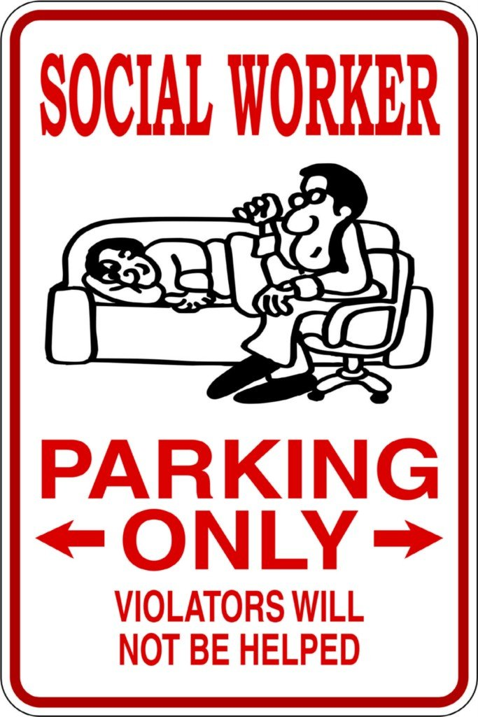 Design with Vinyl – CA Design 906 Social Worker Parking only Violators Will Not Be Helped Vinyl 9 X 18 Wall Decal Sticker DesignwithVinyl - CA