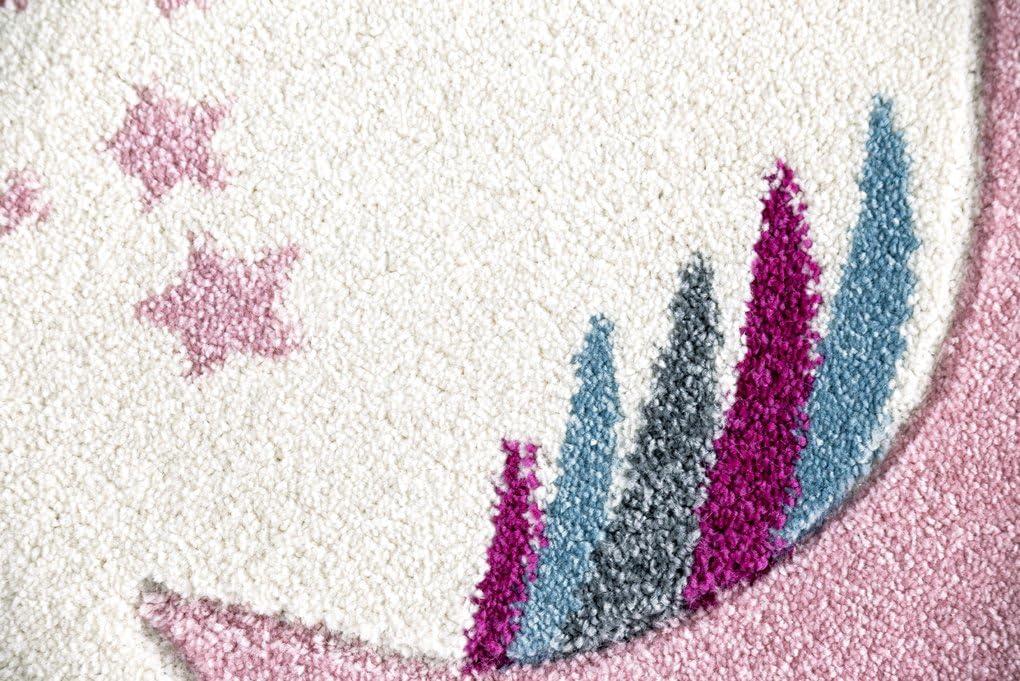 Livone Kinderteppich Happy Rugs Einhorn rosa//Creme 160x230 cm
