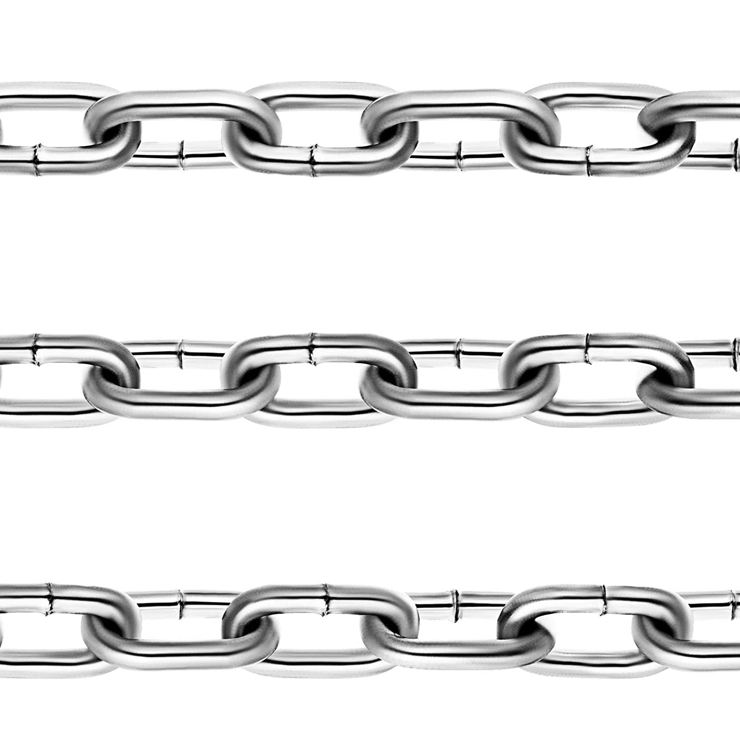 Mophorn Grade 30 Chain 1//4 Inch by 20 Feet Length Grade 30 Proof Coil Chain Zinc Plated Grade 30 Chain for Towing Logging Agriculture and Guard Rails 1//4 Inch by 20 Feet