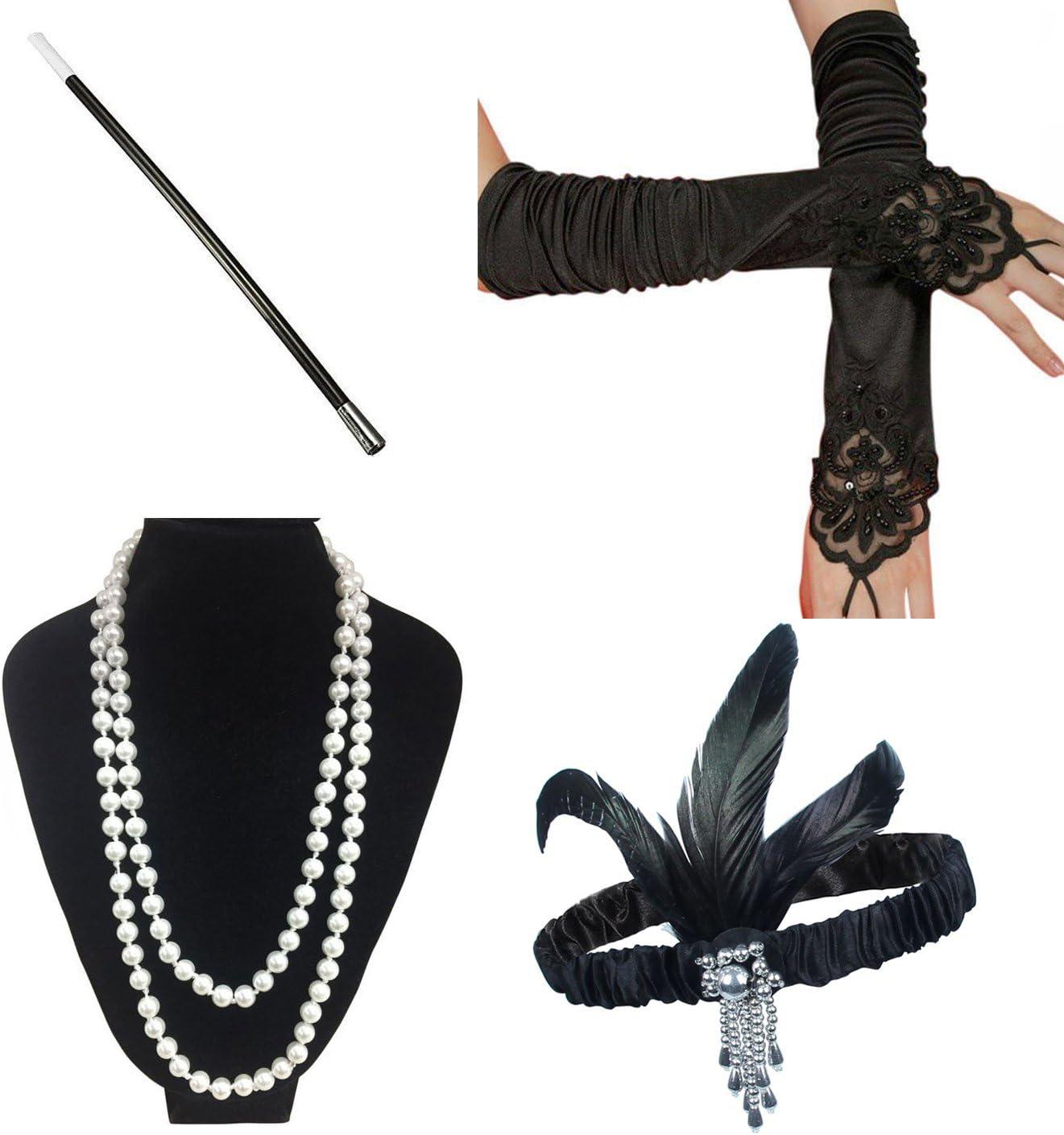 ResPai Años 20 Disfraces Roaring 1920s Gatsby Conjunto Flapper ...