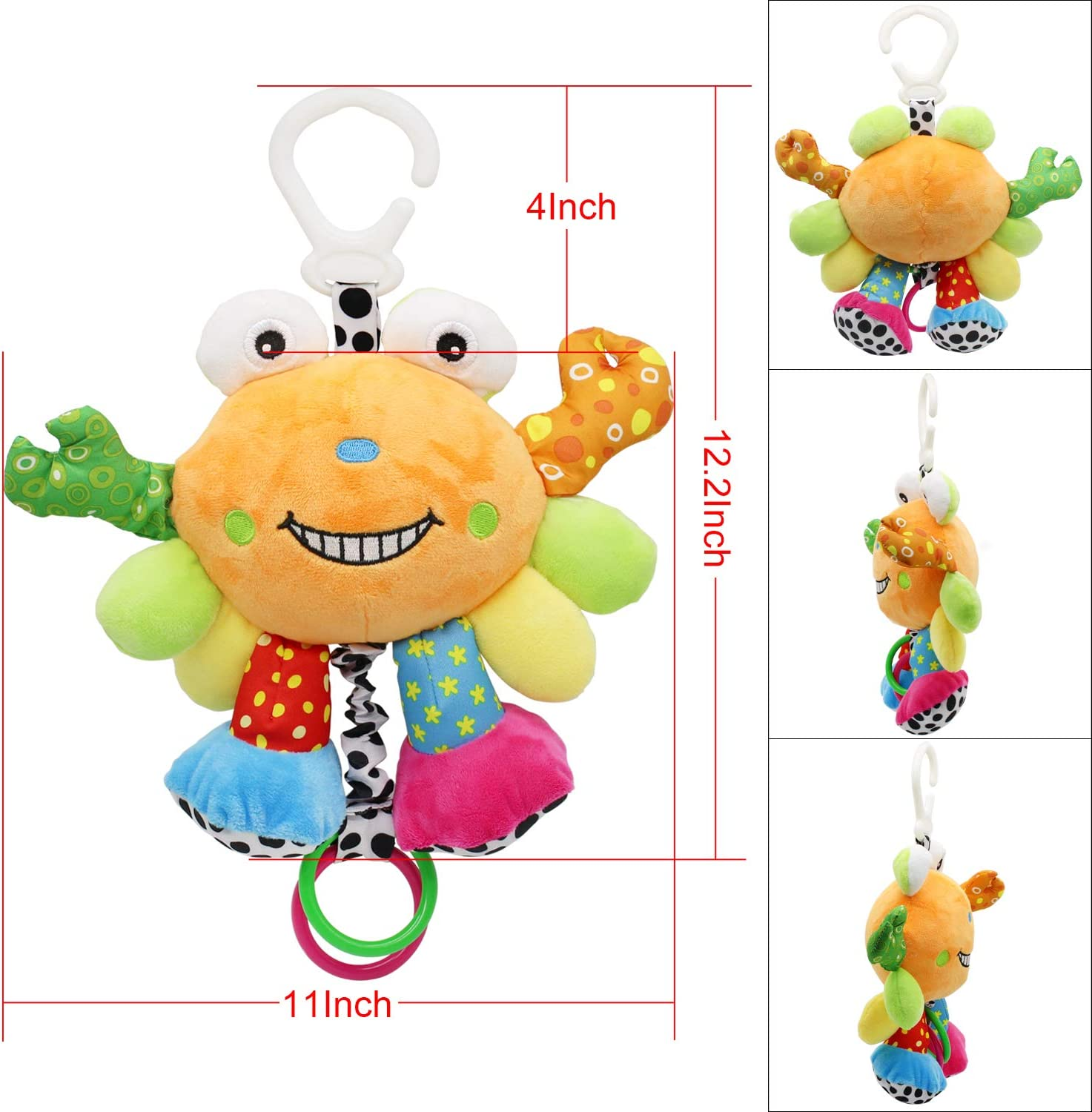 Early Development Hanging Stroller Toys for 0 3 Infant Soft Plush Rattle 6 MARUMINE Baby Car Seat Toys with Tug Music 12 Months Newborn Boys Girls Gifts 9