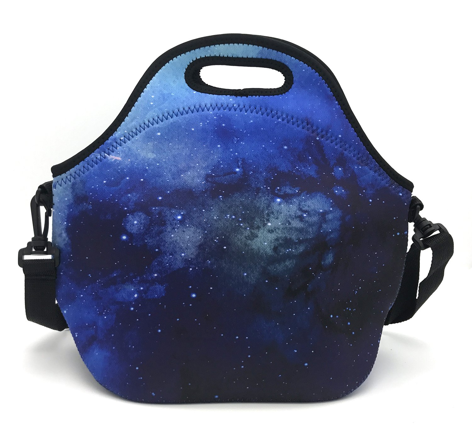 bluee Sky Wakaka Reusable Zipper Thermal Neorpene Insulated Cooler Lunch Bag Shoulder Strap School Lunch Box Picnic Bag Tote Travel Organizer, Keeps Food Fresh  (Campanulaceae)