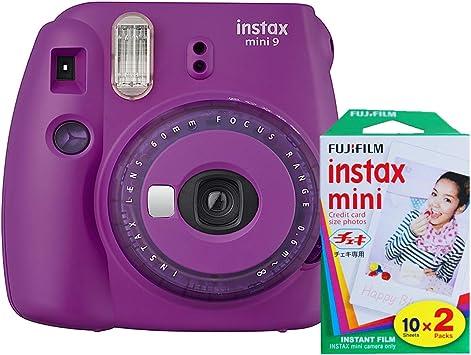 Fujifilm Instax Mini 9 Instant Camera With Mini Film Twin Pack Purple Camera Photo