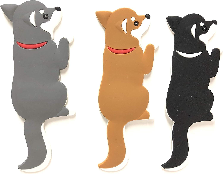 6Pcs Dog Magnets for Refrigerator Household Kitchen Fridge Magnetic Refrigerator Sticker Mini Cute Dachshund Decoration