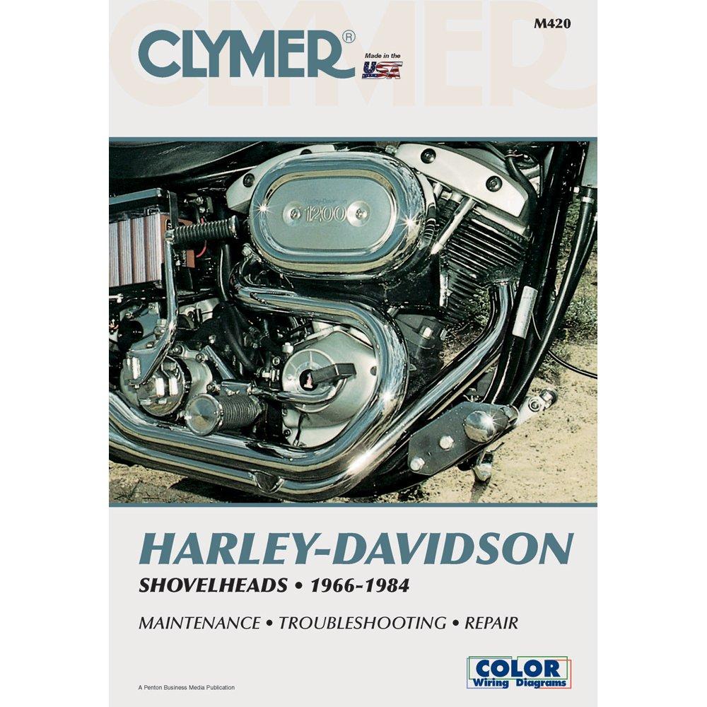 Clymer M420 Repair Manual For Harley Davidson Shovelhead Wiring Diagram On Off Shovelheads Automotive