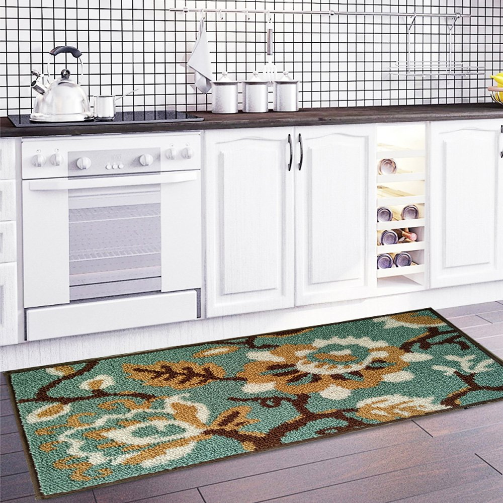Amazon.com: MustHome Kitchen Rug Non Slip Rubber Backing Kithcen ...