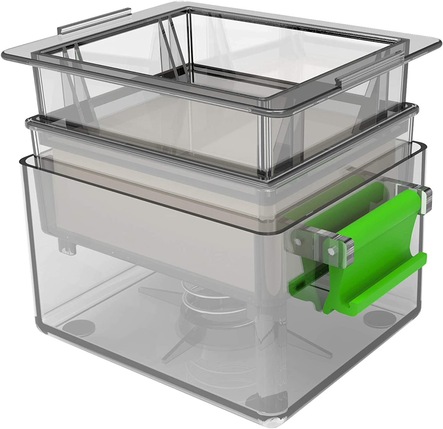 YARKOR Tofu Press, Easily Remove Water from Tofu for More Delicious, Safe for Dishwasher (Grey)