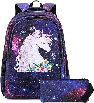 YEGFTSN Floral Printing Backpack School Bag Bookbag for Kids Boys Girls 17inch