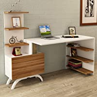 Kalender Dekor Olivia Çalışma Masası Ceviz-Beyaz