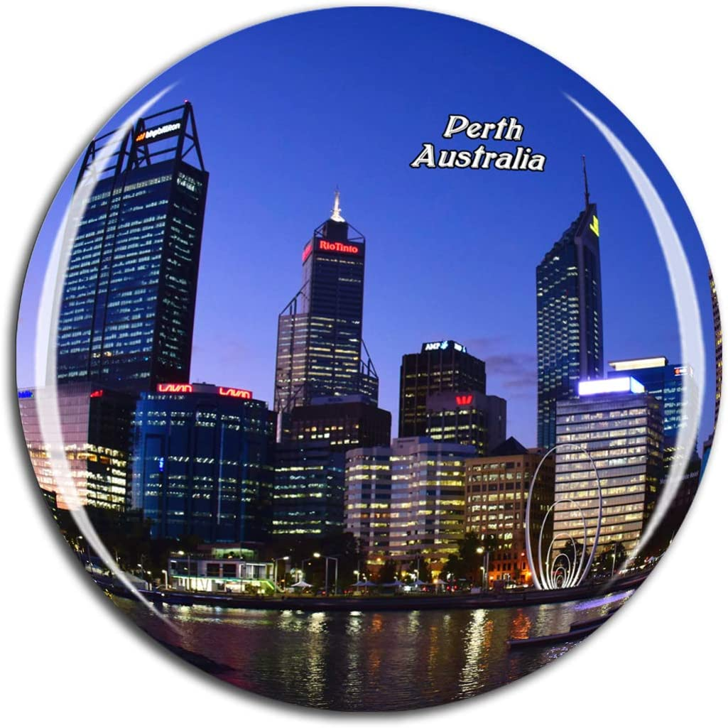 Weekino Australia Perth Fridge Magnet 3D Crystal Glass Tourist City Travel Souvenir Collection Gift Strong Refrigerator Sticker