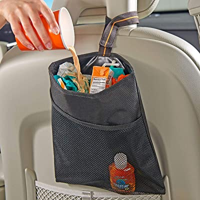 High Road Car Trash Bag with Leakproof Lining and Storage Pocket: Automotive