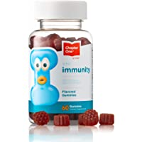 Chapter One Immune Support Gummies, Elderberry, Zinc and Vitamin C, Certified Kosher, 60 Flavored Gummies