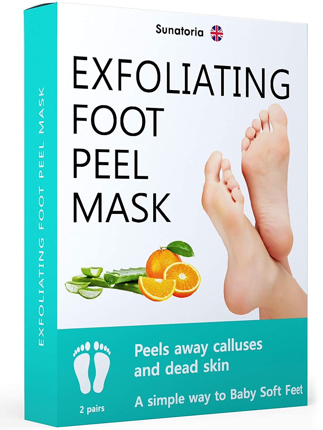 Improved 2019 Formula Exfoliating Foot Peel Mask - Makes Your Feet Baby Soft - Peeling away Calluses and Dead Skin Remover - Repair Rough Heels with Baby Foot Gel Socks Booties.