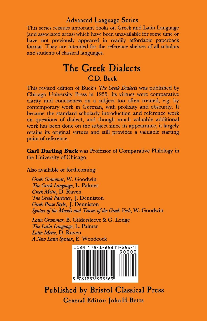 The Greek Dialects (Bcp Advanced Language S)