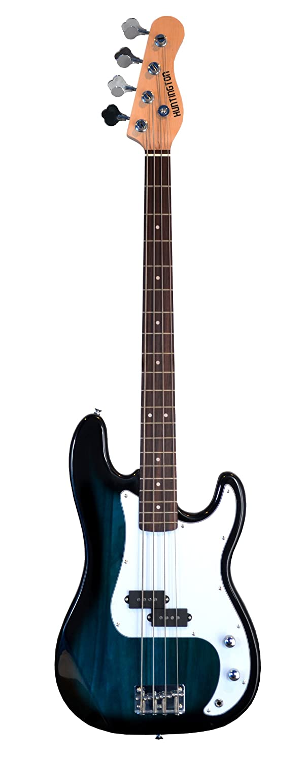 Amazon Full Size 4 String BLUE Precision P Electric Bass Guitar With Gig Bag And Accessories Includes Strap DirectlyCheapTM Translucent