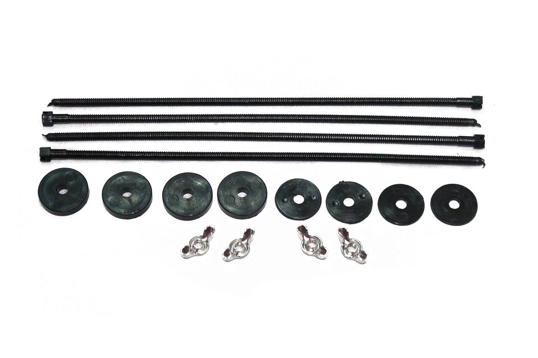 Heavy Duty Electric Fan / Fan Shroud Black Plastic Push Thru Radiator Mount Kit RPC