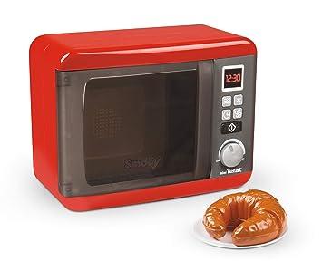 Smoby 7600310586WEB Tefal Microondas electrónico, Rojo, Gris, Plata
