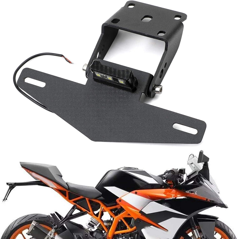 Areyourshop CNC-Motorrad-Kennzeichenhalterung f/ür K-T-M Duke 390 2017-2019