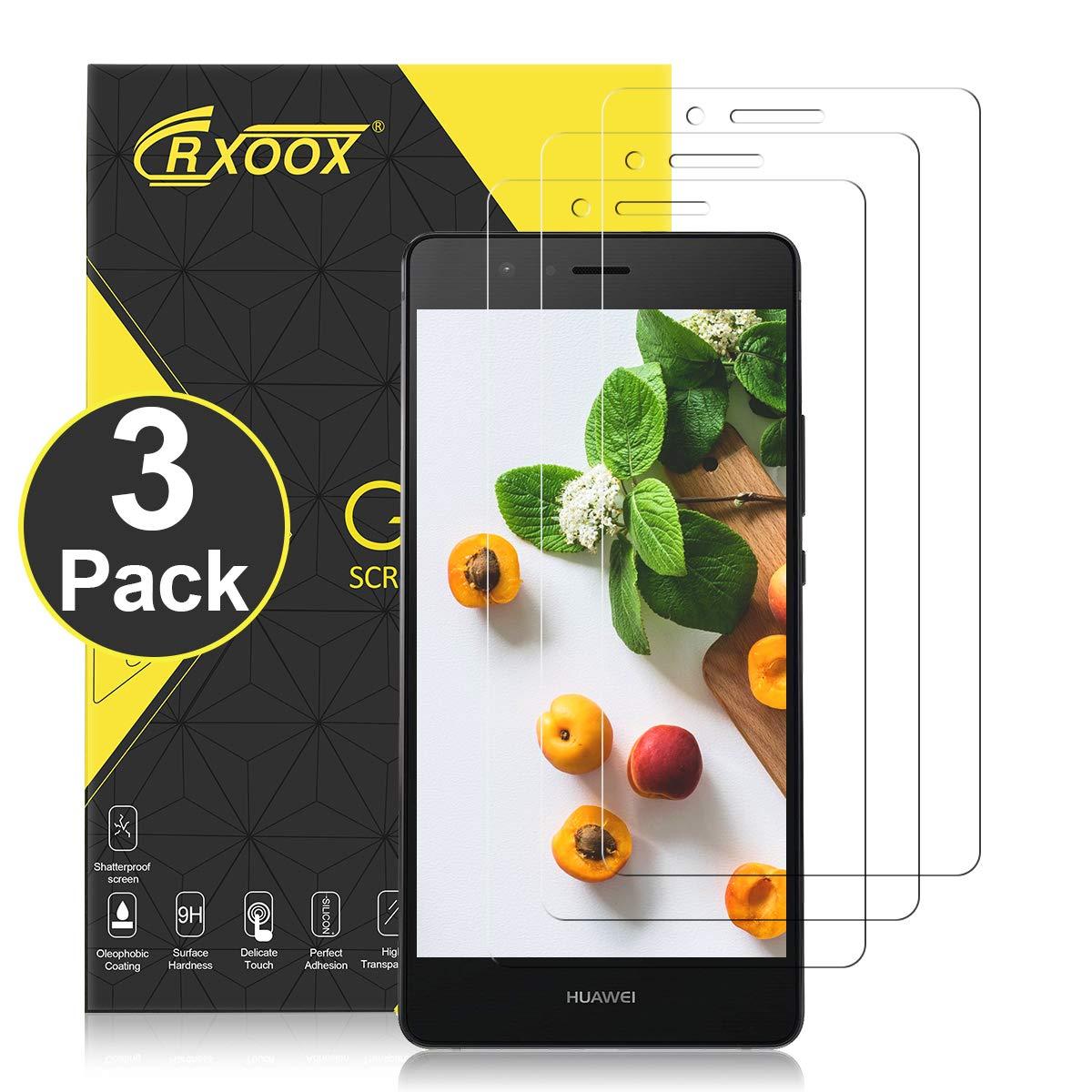 CRXOOX Protector Pantalla para Huawei P9 Lite, 3-Unidades, 9H Dureza, Alta Definicion, Anti-petróleo, Anti-Burbuja, 0.33mm, 2.5D Round Edge: Amazon.es: ...