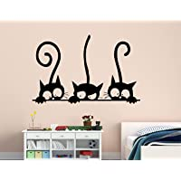 Luke and Lilly Black Cats Design Vinyl Wall Sticker (85 * 55cm)
