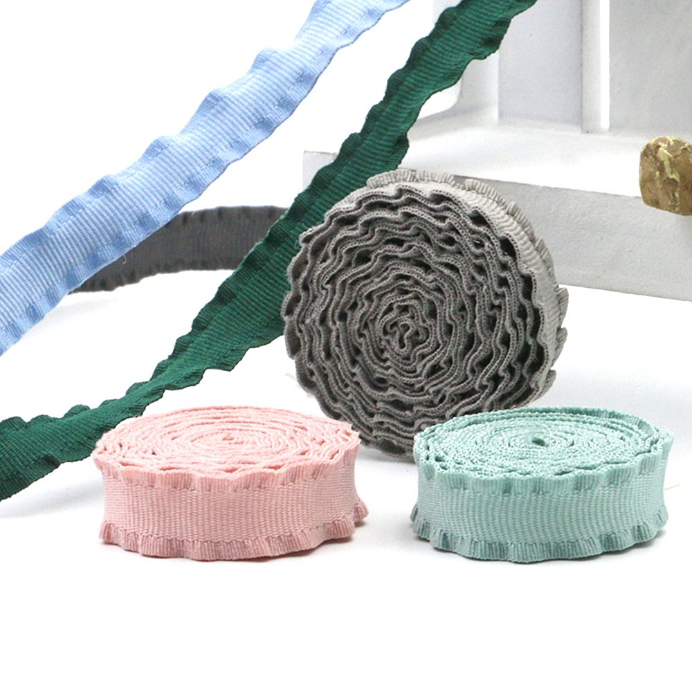 Cotton Stripe Fabric Trim Sewing Webbing Colorful Sewing Accessory Decor 15 Meters 1cm Width
