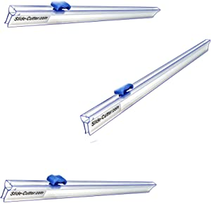 """3 Slide Cutter Replacements for Your 12"""" Plastic Food Wrap Boxes - 14"""" Long Rails - Direct to You from Our USA Warehouse - Mymicco # 3014"""