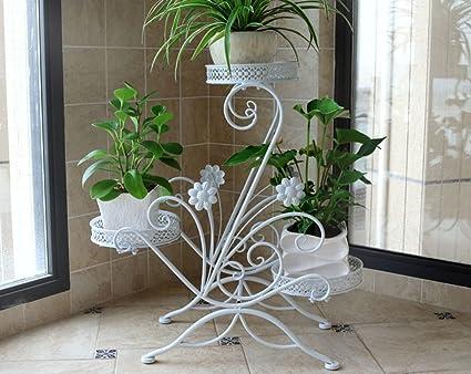 Scaffali da fiori stile europeo in ferro multipli strati