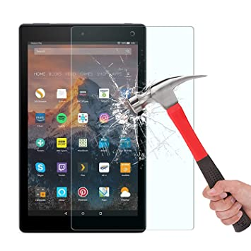 For Amazon Fire HD 8 7th Generation 2017 Tablet Tempered Glass Screen Protector