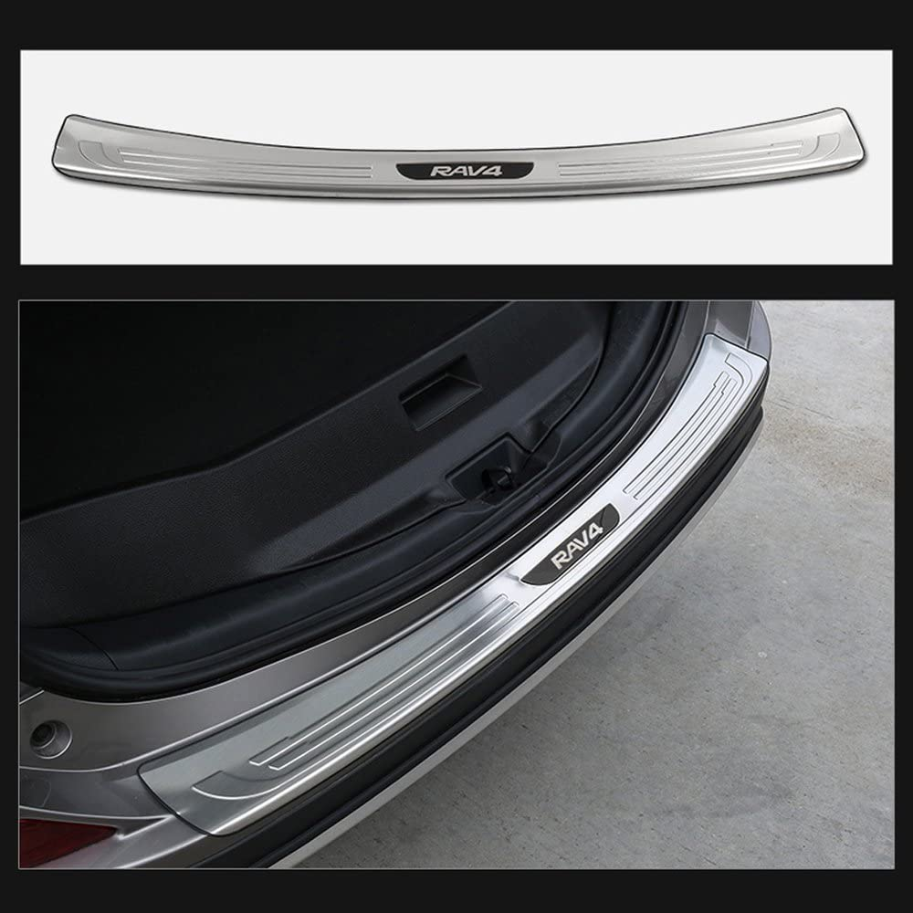 Fit Toyota Highlander 2018 stainless rear door plate bumper cover door sill trim