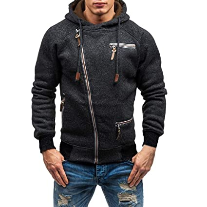 Winsummer Mens Full Zip Heavyweight Fleece Hoodie Sweatshirts Jacket Hooded Coat Warm Zippered Hoodies fot Teen Me at Amazon Mens Clothing store:
