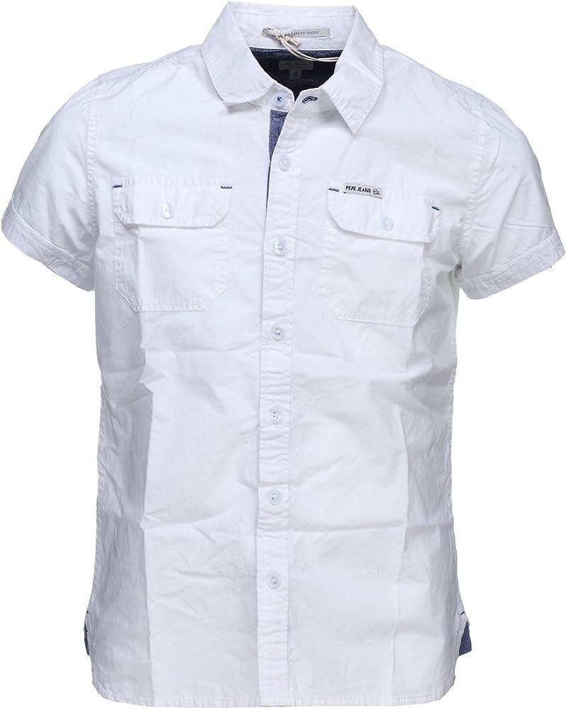 Pepe Jeans Camisa - Para Niño Blanco 12 Años: Amazon.es: Ropa y accesorios