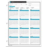 2018 Attendance Calendar - 50 Sheets/Package - On High Quality Cardstock Paper