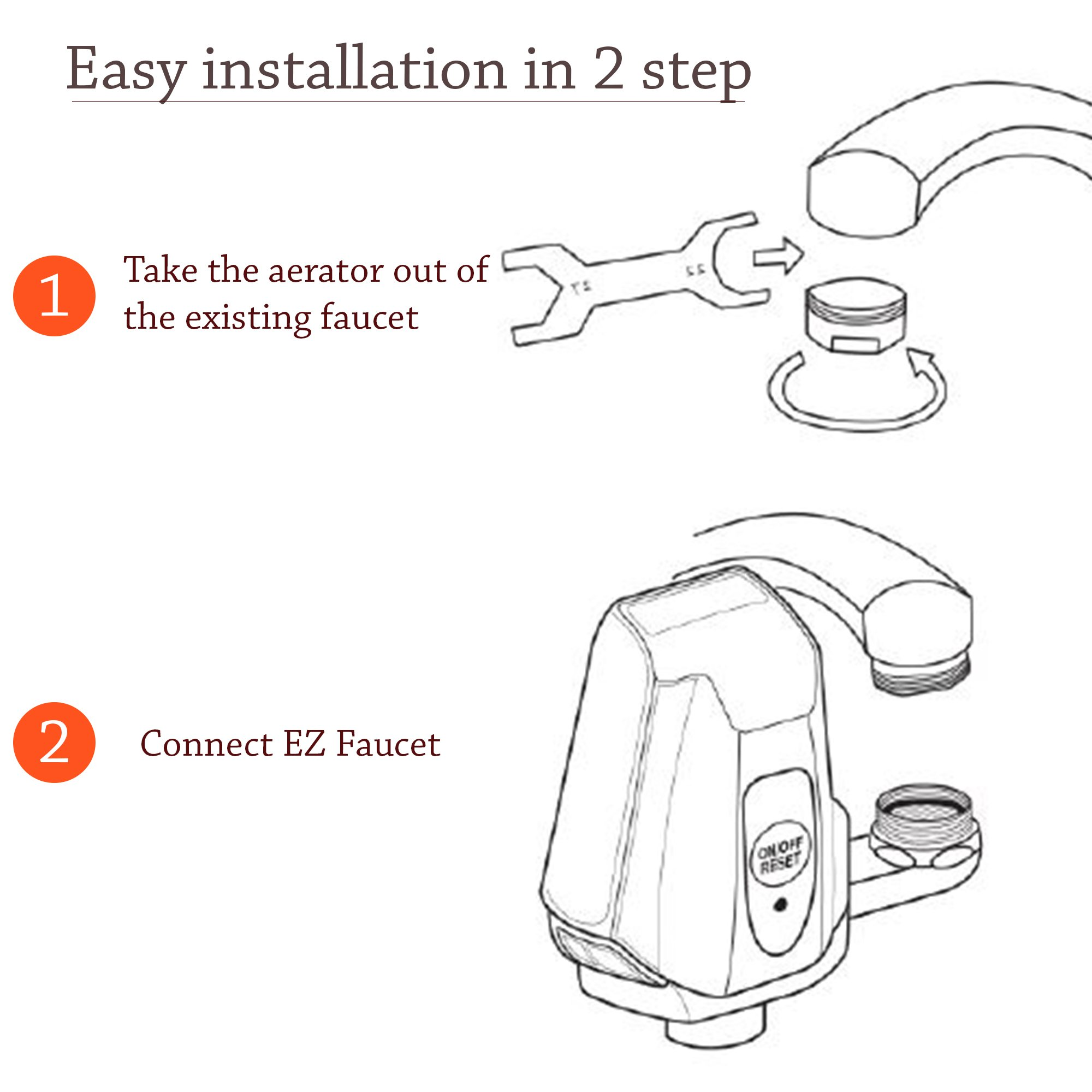 iTouchless EZ Faucet PRO Automatic Sensor Faucet Adapter for Any ...