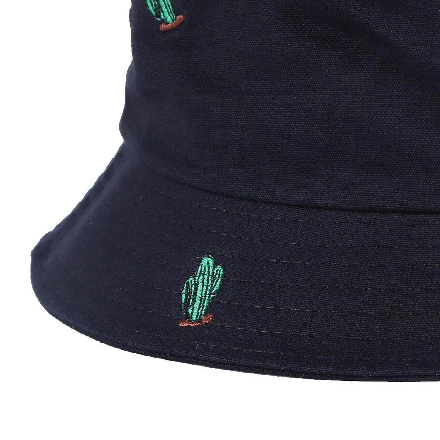 Wholesale Men Women New Bucket Hats Casual Cap Cactus Design Embroidery Simple Design Sun Hats Black at Amazon Womens Clothing store: