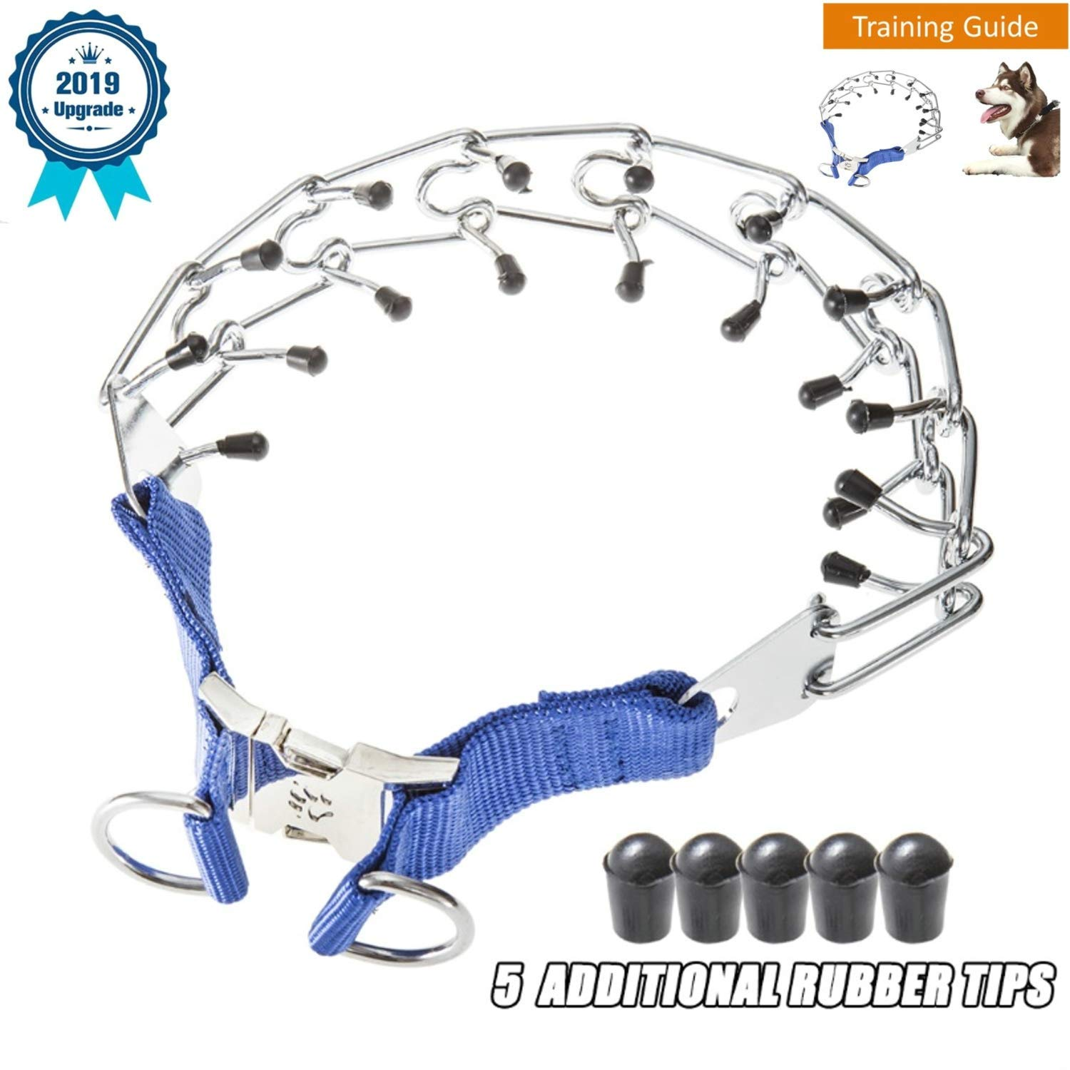 DEYACE Dog Prong Collar, Dog Pinch Collar with Quick Release Snap Buckle, Durable Stainless Steel Dog Pinch Training Collars for Large Dogs by Deyace