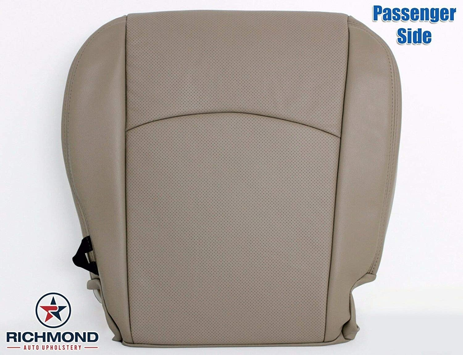 Compatible with 2009-2012 Dodge Ram 1500, 2500, 3500 Passenger Side Bottom Replacement Leather Seat Cover Dark Slate Gray Richmond Auto Upholstery Dark Gray Perforated