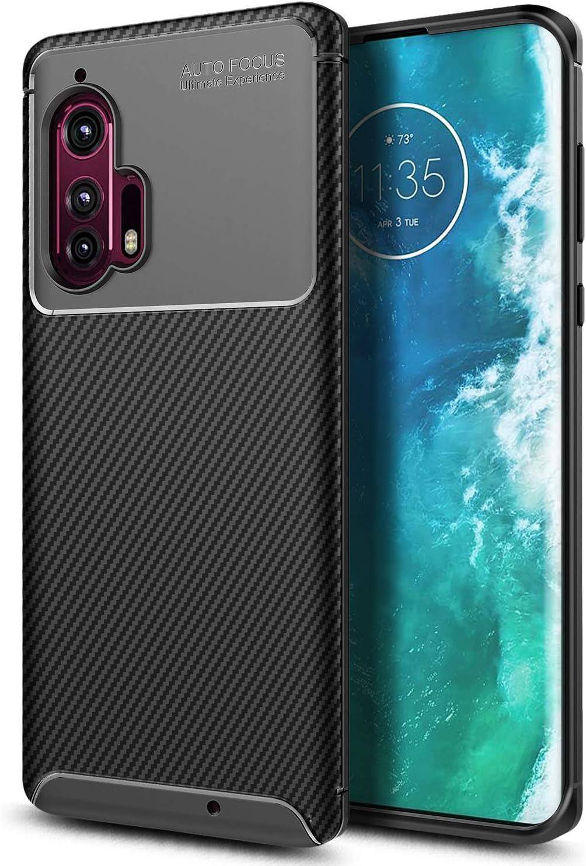 E-Began Case for Motorola Moto Edge Plus//Moto Edge+ Full-Body Protection Rugged Bumper Shockproof Protective Impact Resist Durable Phone Case Black 2020 Release