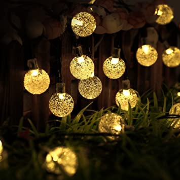 Outdoor solar lights strings ltrop 20ft 30 led waterproof fairy outdoor solar lights strings ltrop 20ft 30 led waterproof fairy bubble crystal ball lights aloadofball Image collections