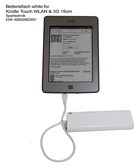 Batería compartimento para Kindle Touch WIFI & 3 G con 15 cm (6 ...