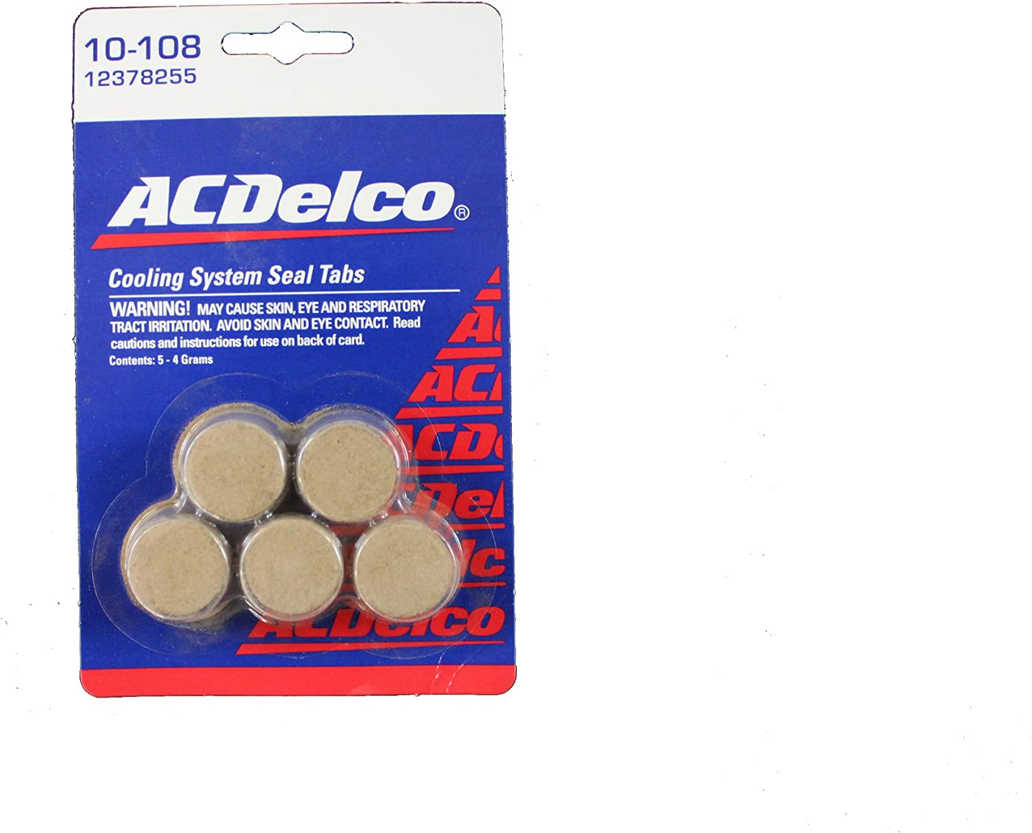 AC Delco 10-108 Cooling System Seal Tab Pack of 5 New