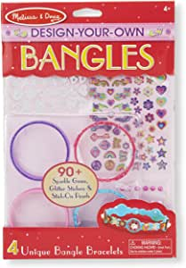 Melissa & Doug Design-Your-Own Bangles Bracelet-Making Set (Makes 4 Bangles)