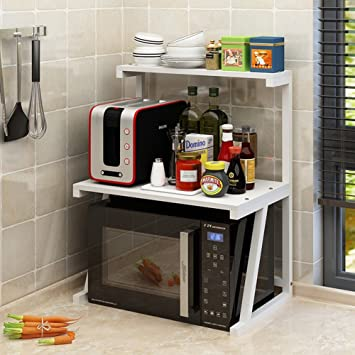 Shelf PHTW HTZ 60 × 37.5 × 75 Cm Multifuncional Cocina De Madera Estufa Clasificación Microondas Condimento De Almacenamiento De 8 Colores A+ (Color : G): ...